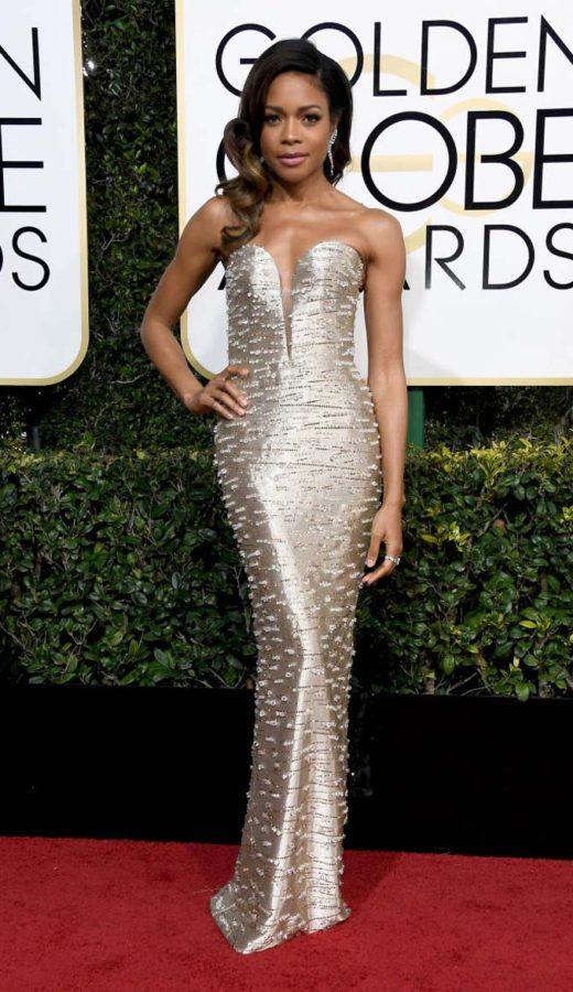 Naomie Harris in Armani Prive at the 2017 Golden Globes